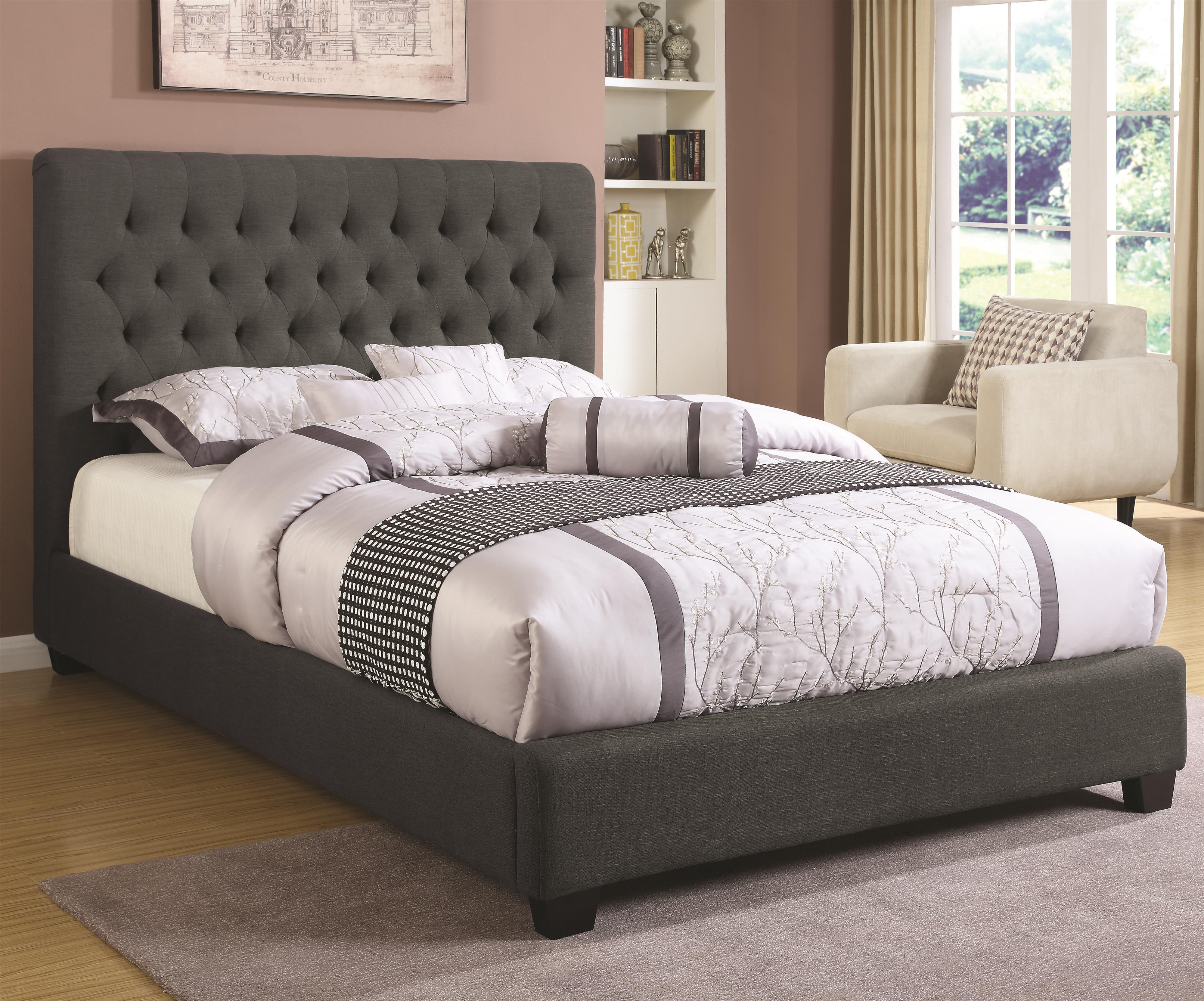Upholstered Beds Queen Chloe Upholstered Bed by Coaster at Northeast Factory Direct