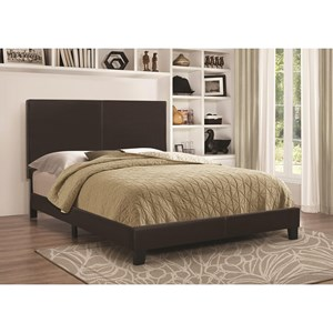 Upholstered Low-Profile Queen Bed