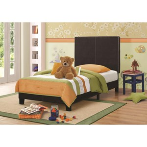 Upholstered Low-Profile Twin Bed