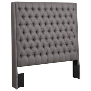 Upholstered King Headboard with Diamond Tufting