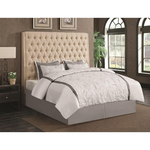 Upholstered Queen Bed with Diamond Tufting