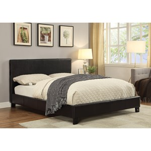 Upholstered Queen Bed with Bluetooth Speakers