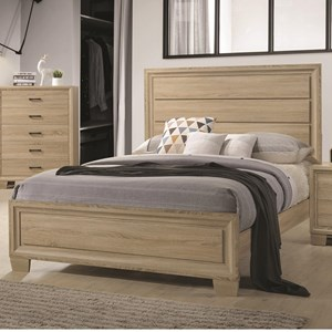 King Transitional Style Bed
