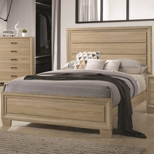 Queen Transitional Style Bed