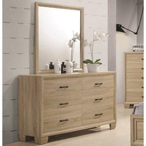 6 Drawer Dresser with Portrait Mirror