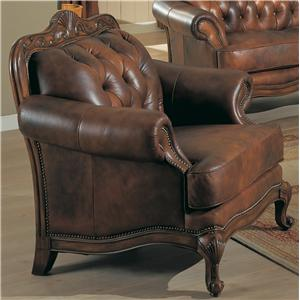 Rolled Arm Leather Chair