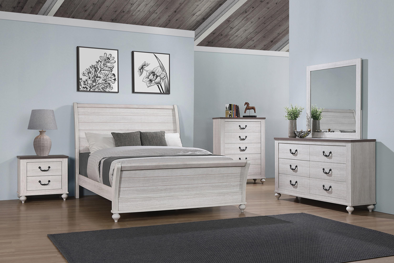Vintage Linen 5 Piece King Bedroom Set by Coaster at Sam Levitz Outlet