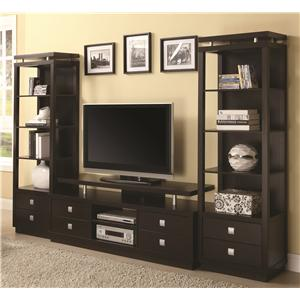 Coaster Entertainment Units TV Console & 2 Media Towers