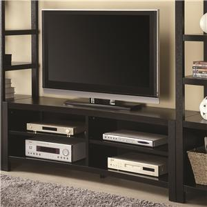 Inverted Curved Front TV Console
