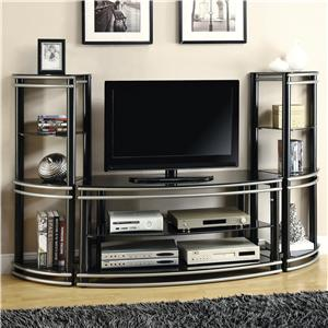 Coaster Entertainment Units TV Stand & 2 Media Towers