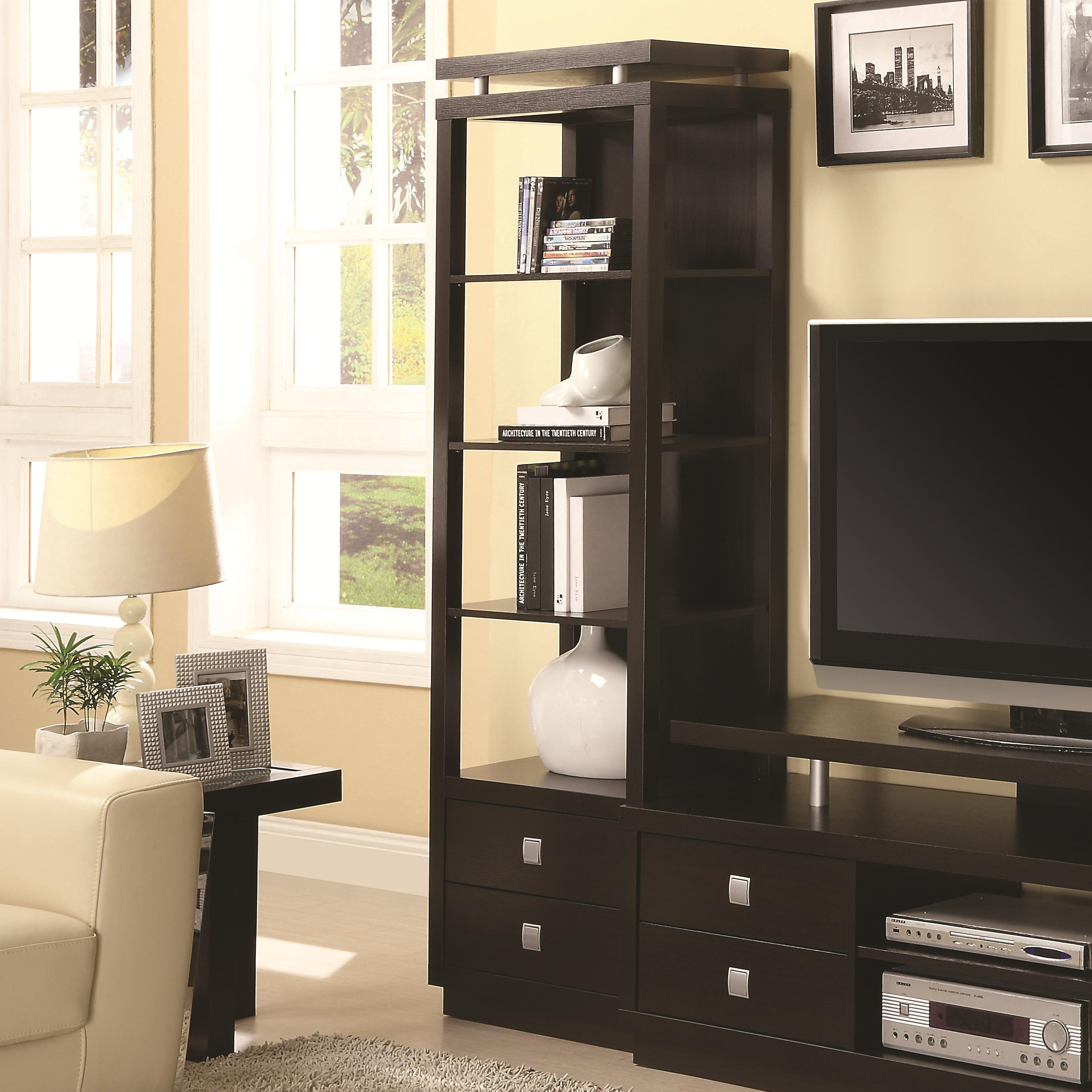 Entertainment Units Media Tower by Coaster at Lapeer Furniture & Mattress Center