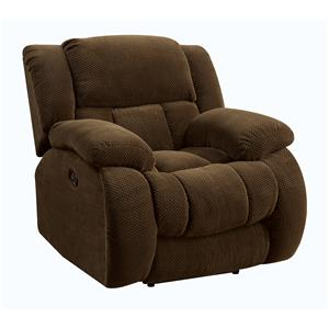Casual Pillow Padded Glider Recliner