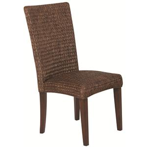 Casual High Back Woven Side Chair