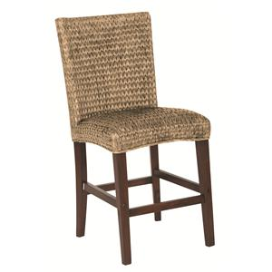Casual Woven Counter Height Stool
