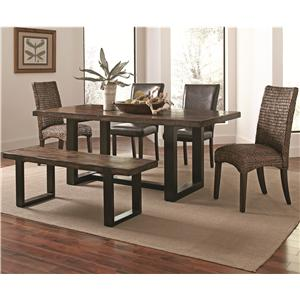 Casual Rustic 6 Piece Mix-and-Match Dining Set