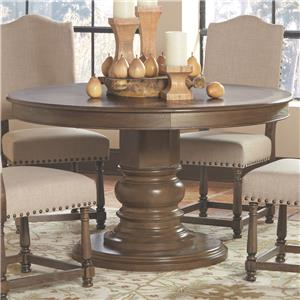Round Single Pedestal Dining Table