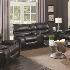 Motion Loveseat with Storage Console