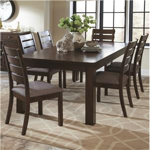 7 Piece Rustic Table and Slat Back Chair Set