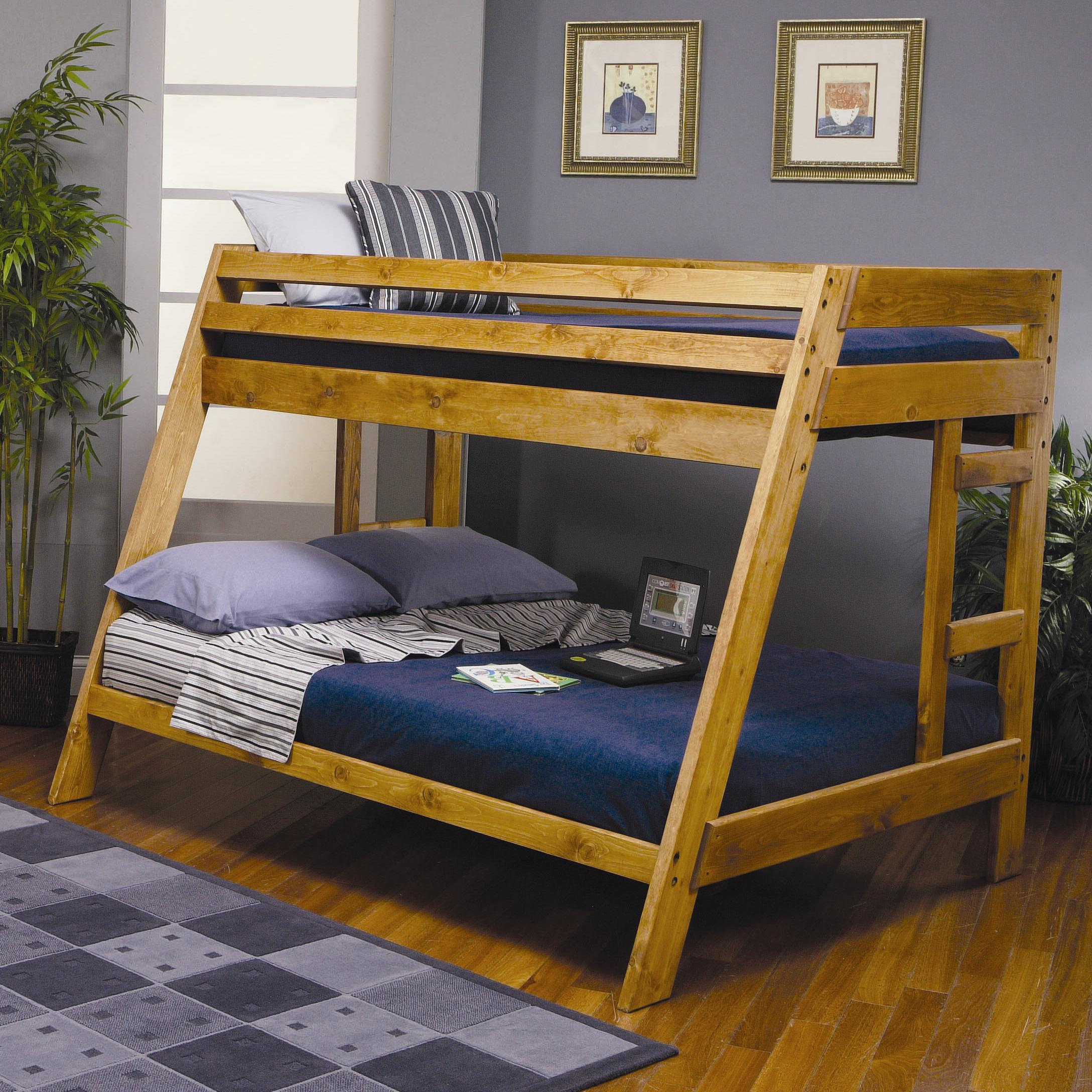 Wrangle Hill Twin Over Full Bunk Bed by Coaster at A1 Furniture & Mattress