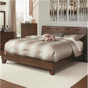 Rustic King Bed with Contemporary Design