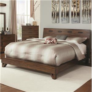 Rustic Queen Bed with Contemporary Design
