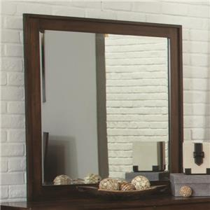 Beveled Mirror with Wood Frame