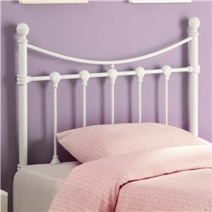 Twin White Metal Headboard