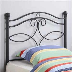 Transitional Twin Metal Headboard