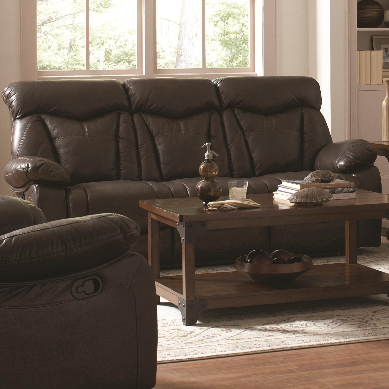 Zimmerman Reclining Sofa by Coaster at Northeast Factory Direct