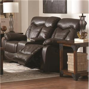 Reclining Love Seat with Cup Holders