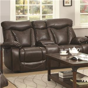 Power Reclining Love Seat with Cup Holders