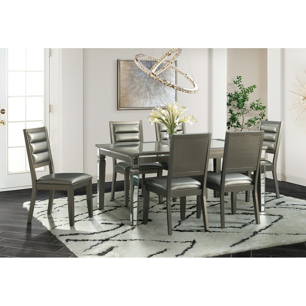 14.5 7-Piece Table and Chair Set by Elements International at Lindy's Furniture Company