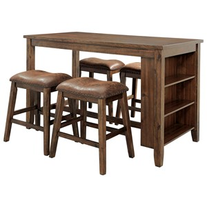 4-Piece Counter Table and Stool Set
