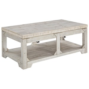 Rustic Lift Top Cocktail Table
