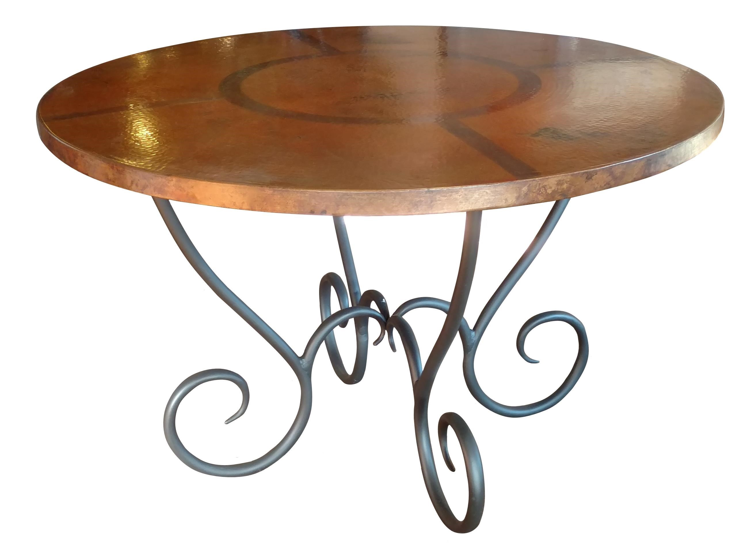 """Milan 48"""" Milan Copper Dining Table by Wayside Custom Furniture at Wayside Furniture"""