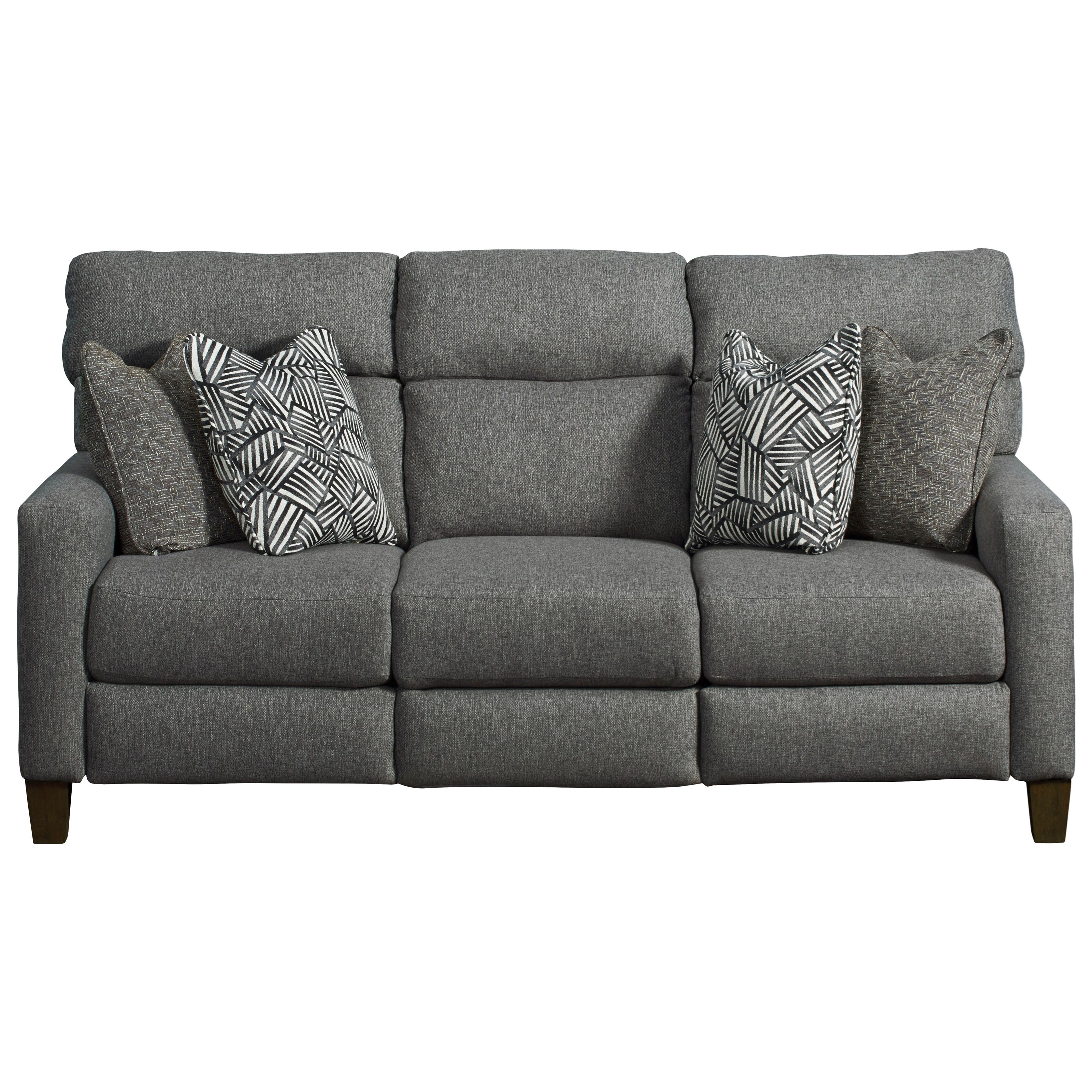 Mt. Vernon Double Reclining Power Sofa with Pillows by Southern Motion at Value City Furniture