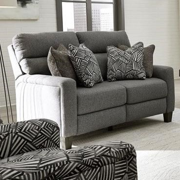 Mt. Vernon Power Headrest Loveseat with Pillows by Southern Motion at H.L. Stephens