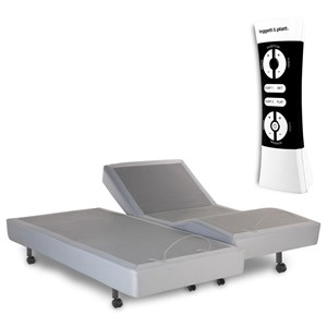 Simplicity 2.0 Split Queen Adjustable Bed Base with Full Body Massage and Wireless Remote