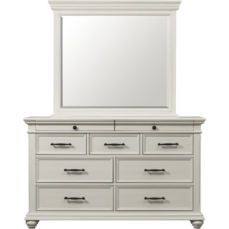 Slater Dresser and Mirror Set by Elements International at Smart Buy Furniture