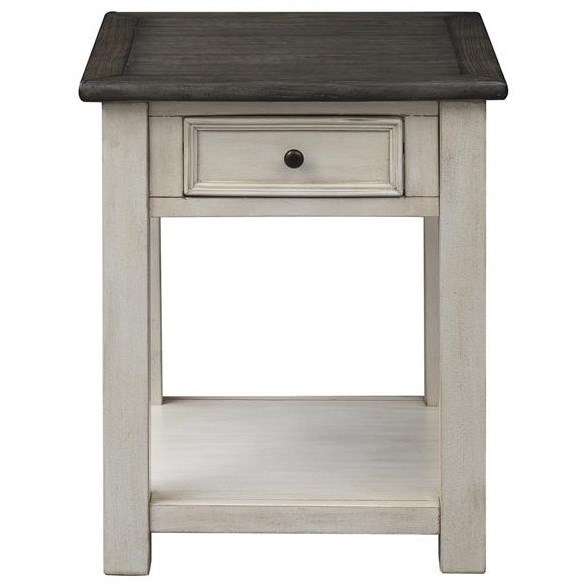 St. Claire One Drawer End Table by C2C at Walker's Furniture