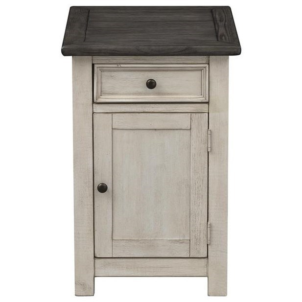 St. Claire One Door One Drawer Chairside Cab by C2C at Walker's Furniture
