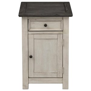 One Door One Drawer Chairside Cabinet