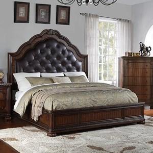King Tufted Bed with Platform Base