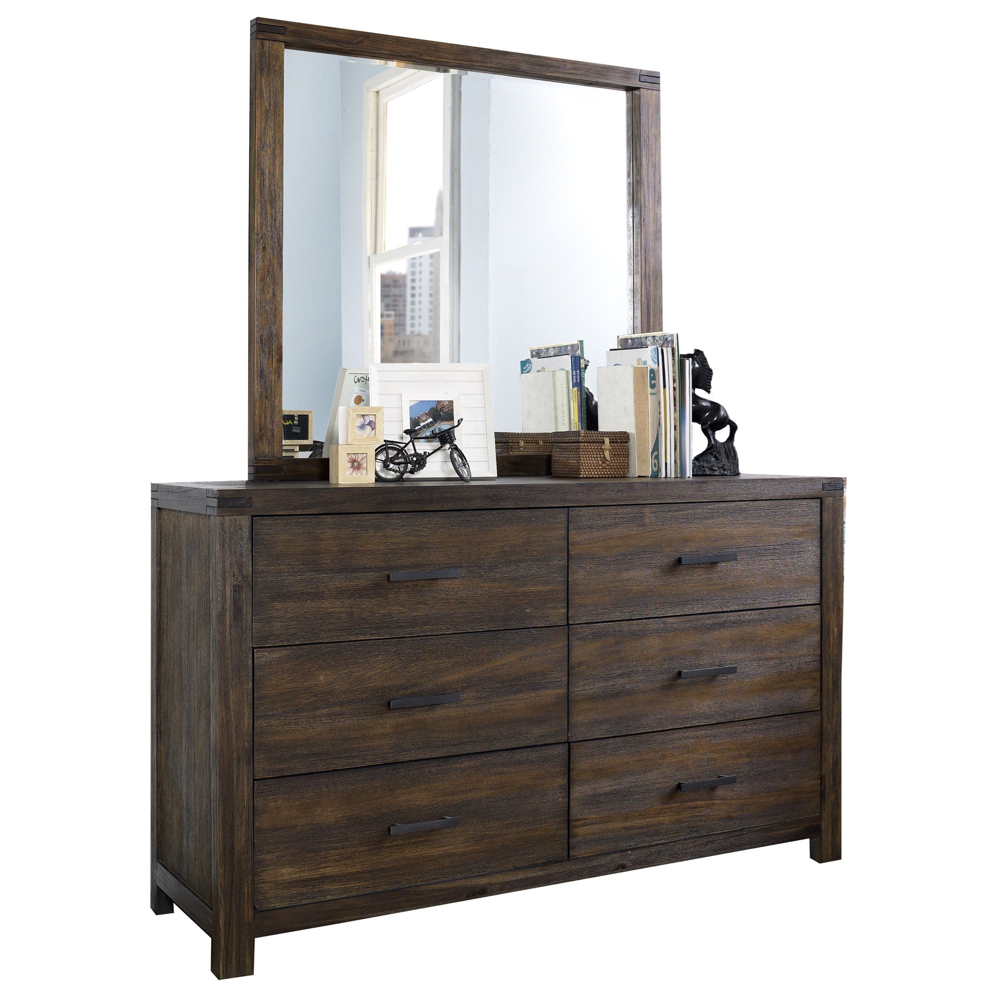 St. Croix Dresser and Mirror Set by Hillsdale at Darvin Furniture