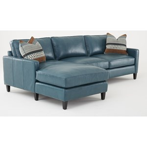 Transitional 100% Leather 2 Piece Sectional