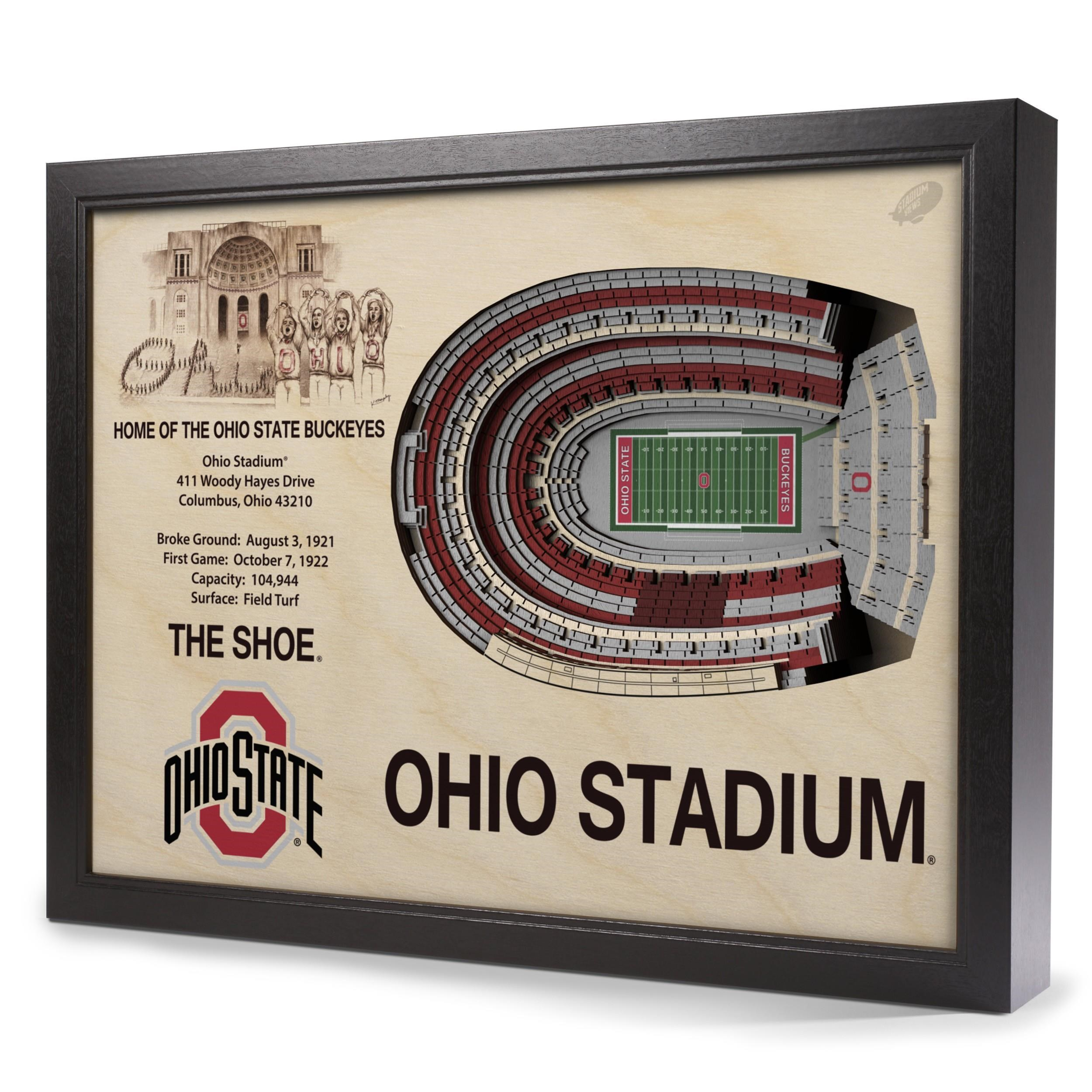 Wall Art OHIO STATE BUCKEYES STADIUMVIEW 3D WALL ART by StadiumViews at Westrich Furniture & Appliances