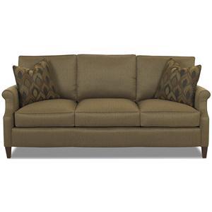 Transitional 3 Seat Stationary Sofa