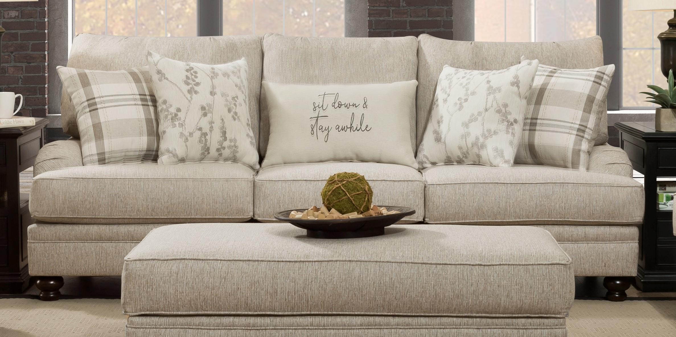 193 Celadon Rafia Sofa - Celadon Rafia by Corinthian at Furniture Fair - North Carolina