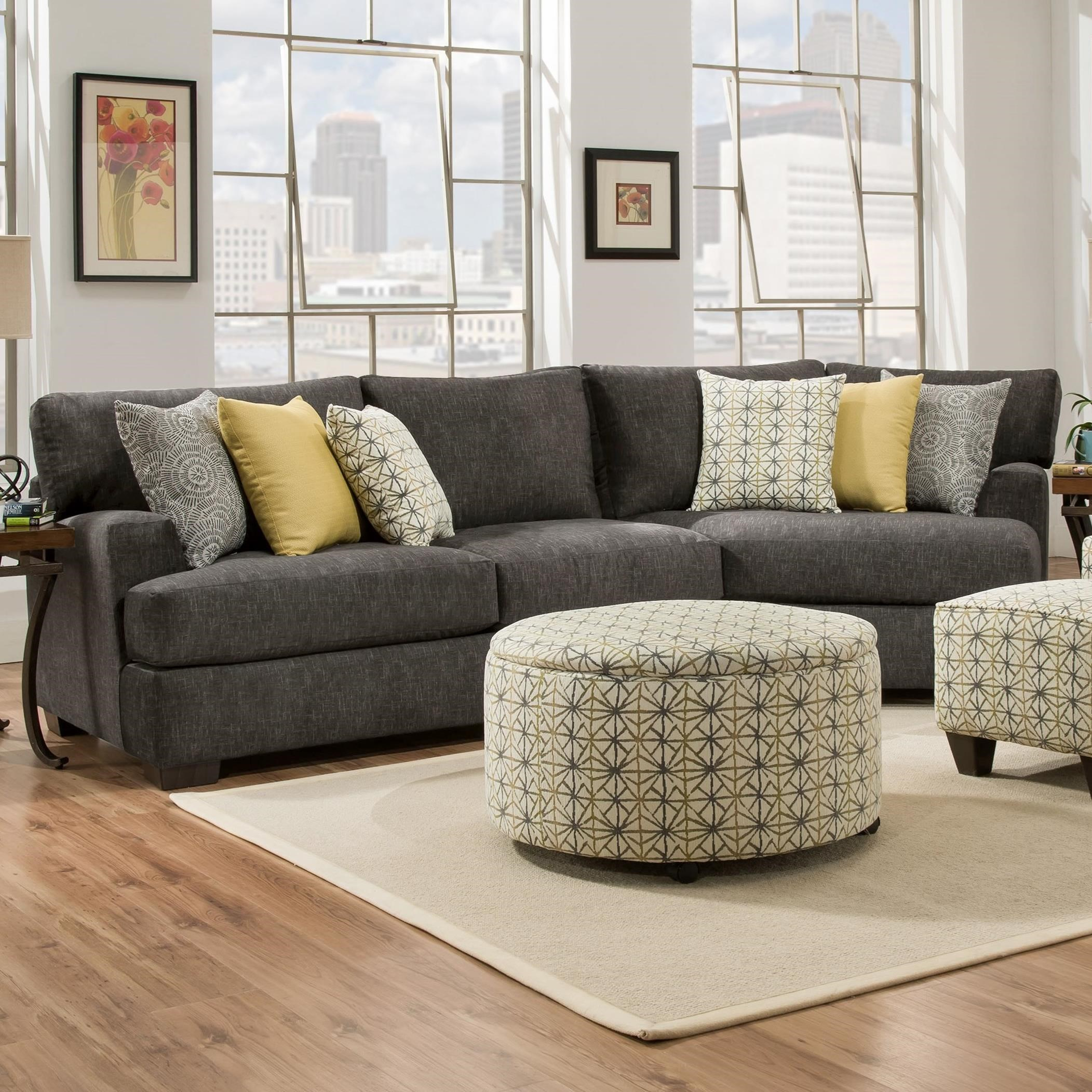 29C0 3 Seat Sectional with Piano Wedge by Corinthian at Story & Lee Furniture