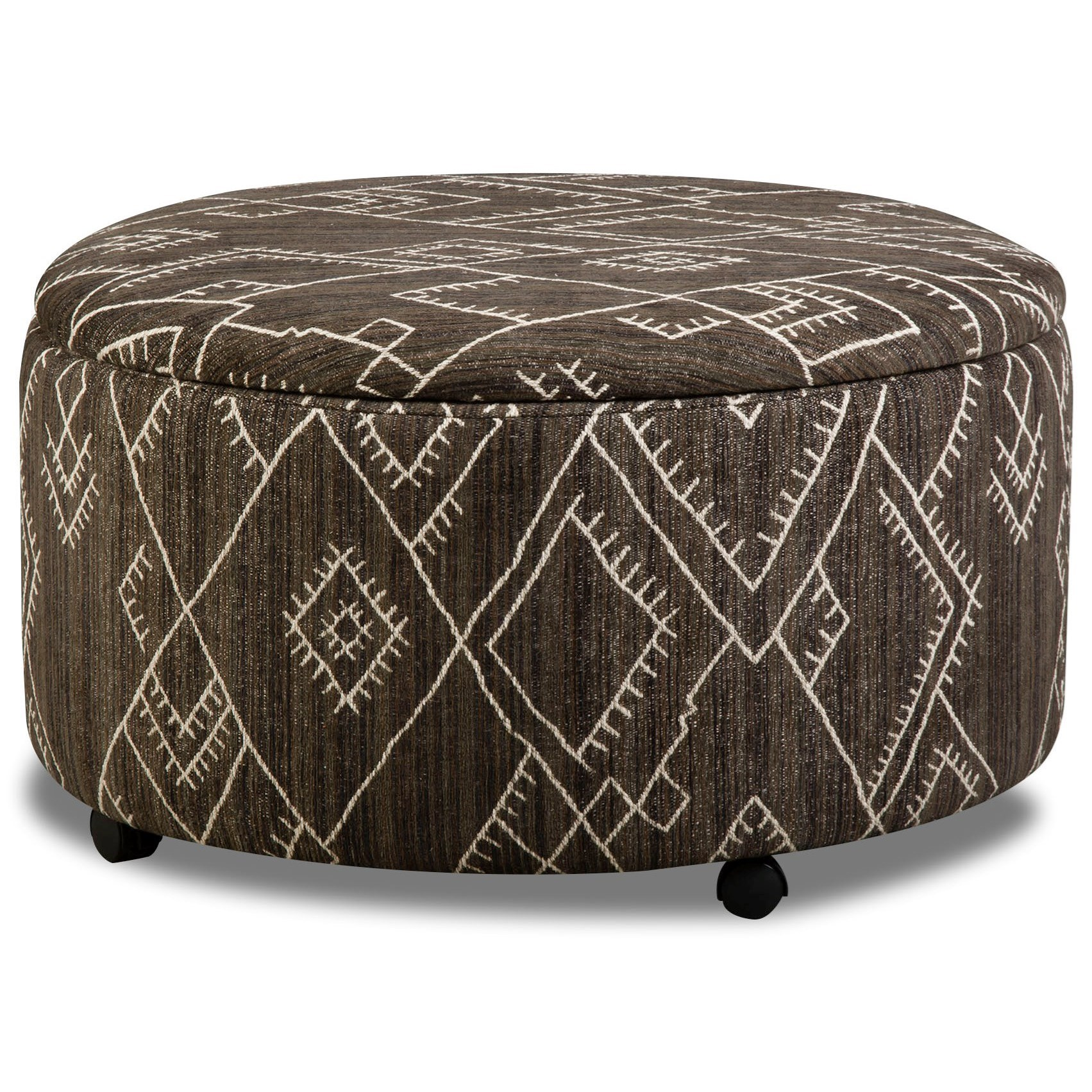 29D0 Round Storage Ottoman by Corinthian at Story & Lee Furniture